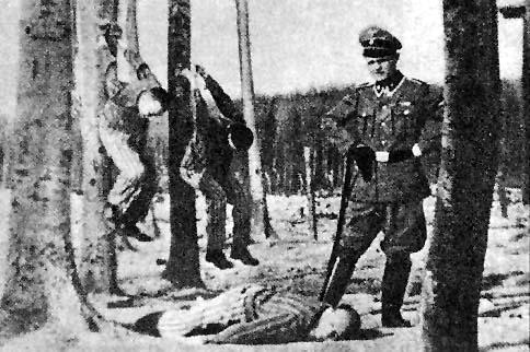 Fake photo at Buchenwald